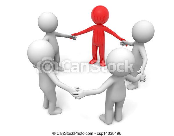 coopération, équipe, associé - csp14038496