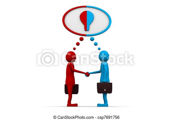 coopération, mutuel - csp7691756