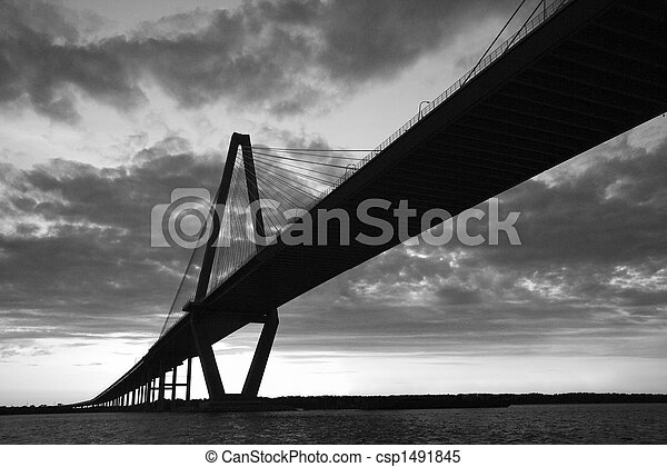 Cooper River Bridge in Charleston, South Carolina. - csp1491845
