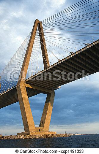 Cooper River Bridge in Charleston. - csp1491833