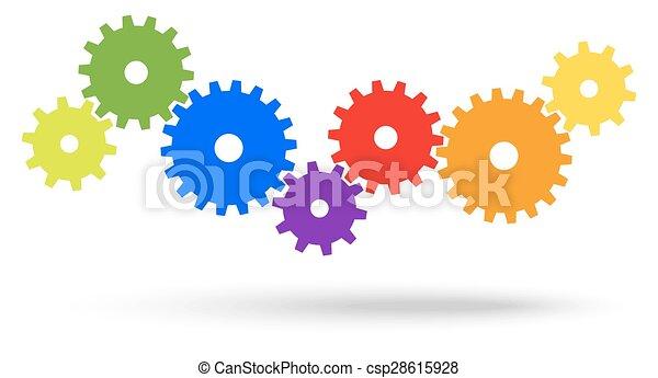 Engranajes para el simbolismo de cooperación - csp28615928