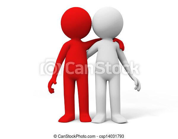 Cooperation, partner, team - csp14031793