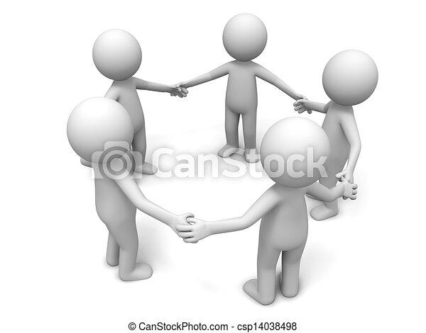 Cooperation,partner,team - csp14038498