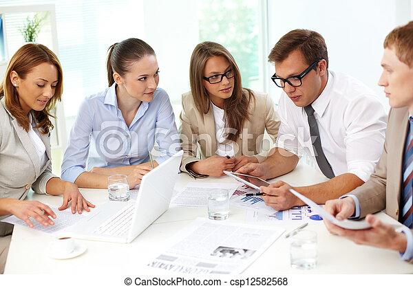 Cooperative colleagues - csp12582568