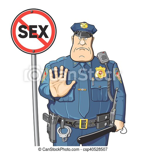 cop prohibits sex sign sex no police ban or a warning vector rh canstockphoto com sex clipart image emoji sex clipart