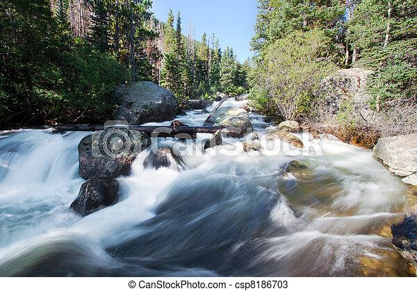 Copeland cae en las montañas rocosas del parque nacional, Colorado en verano - csp8186703