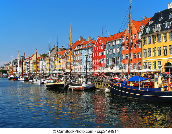 Copenhagen, Nyhavn - csp3494914