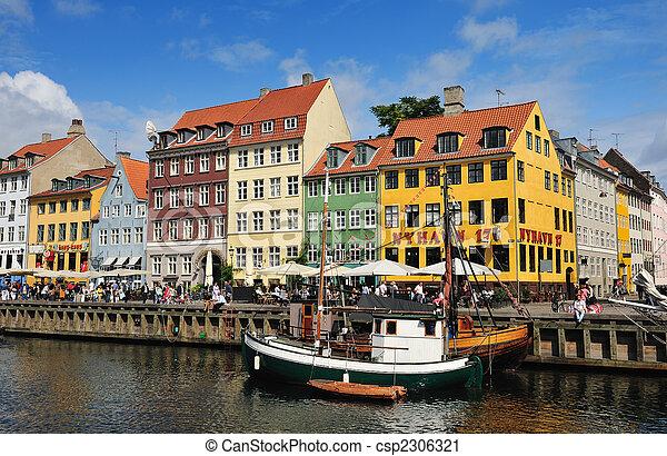 copenhague, danemark, nyhavn - csp2306321