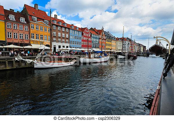 copenhague, danemark, nyhavn - csp2306329