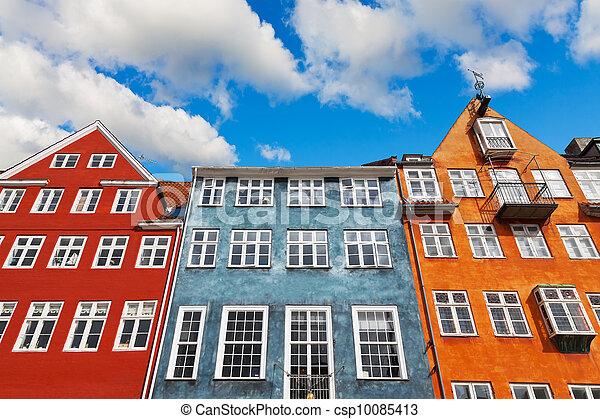 copenhague, vieille architecture - csp10085413