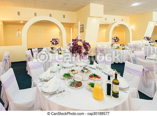 coperto, festeggiare tavola, matrimonio - csp30188577