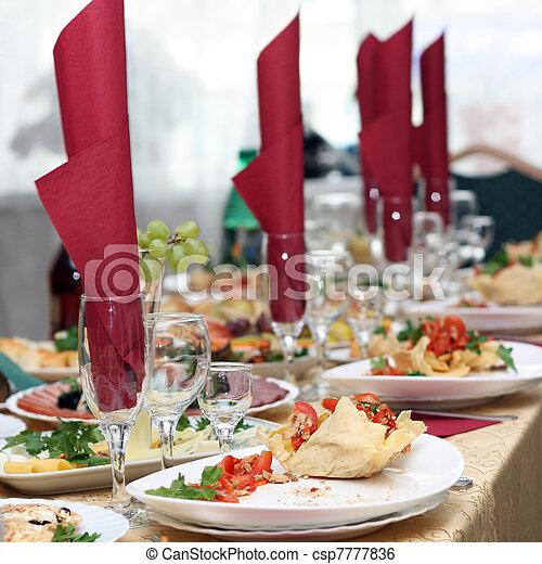 coperto, festively, tavola - csp7777836