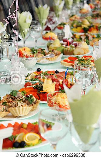 coperto, festively, tavola - csp6299538