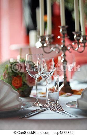 coperto, tavola, ristorante - csp4278352