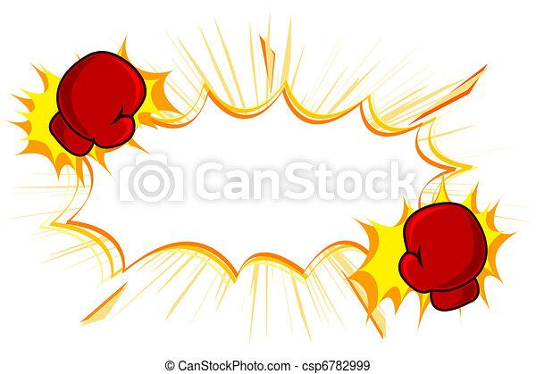 Copia espacio con guantes de kick boxing - csp6782999