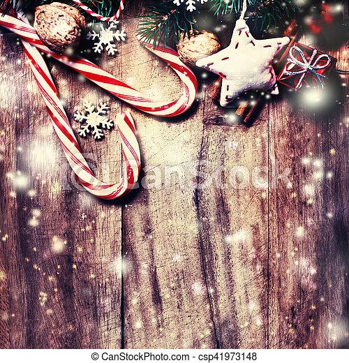 Historial de Navidad con espacio de copia - csp41973148