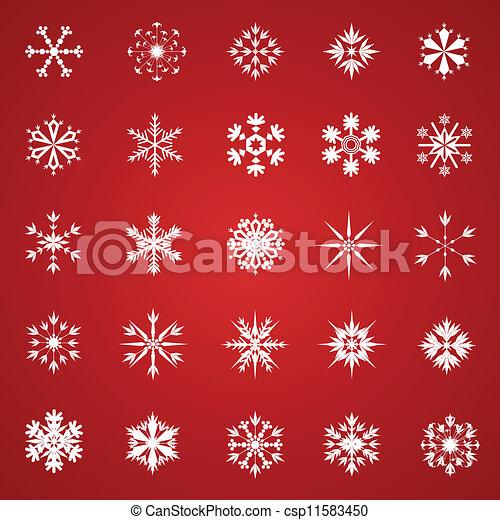 Una colección de copos de nieve - csp11583450