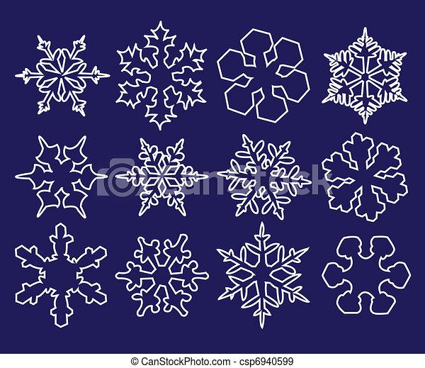 Una colección de copos de nieve - csp6940599