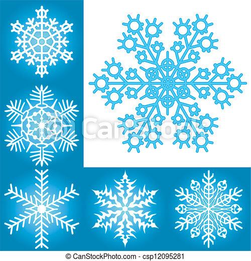 Una colección de copos de nieve - csp12095281