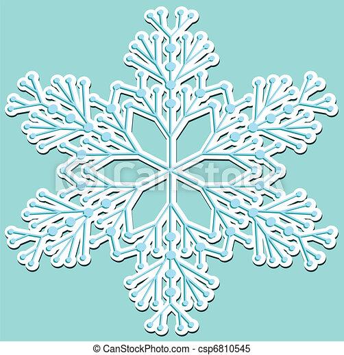 Atrás con copos de nieve - csp6810545