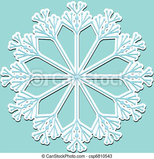 Atrás con copos de nieve - csp6810543