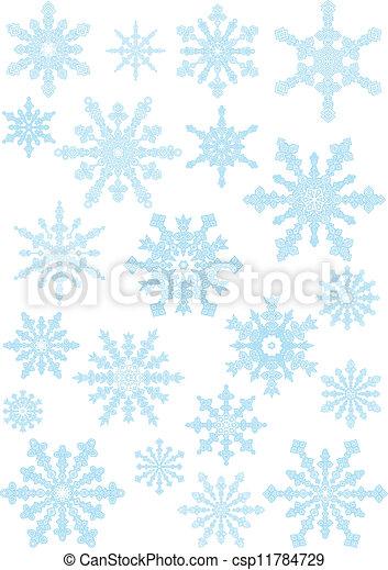 Colección de copos de nieve - csp11784729