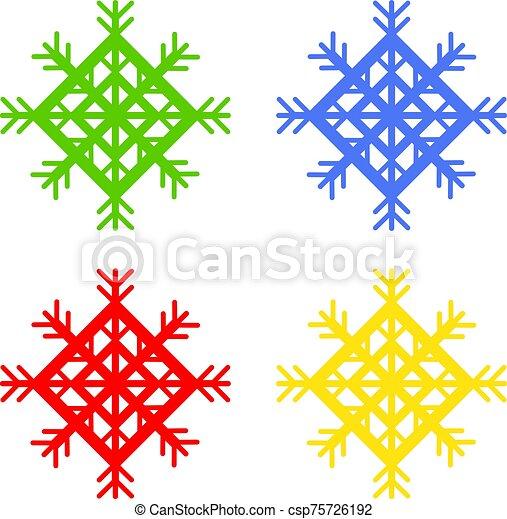 copos de nieve - csp75726192