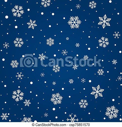 copos de nieve, patrón - csp75851570