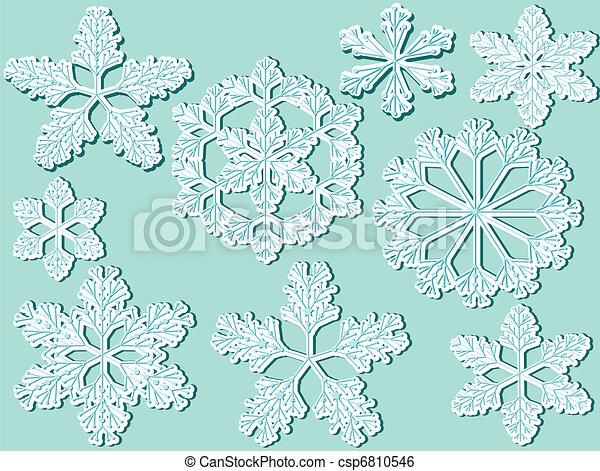 Atrás con copos de nieve - csp6810546