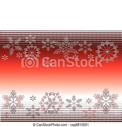 Atrás con copos de nieve - csp6810551