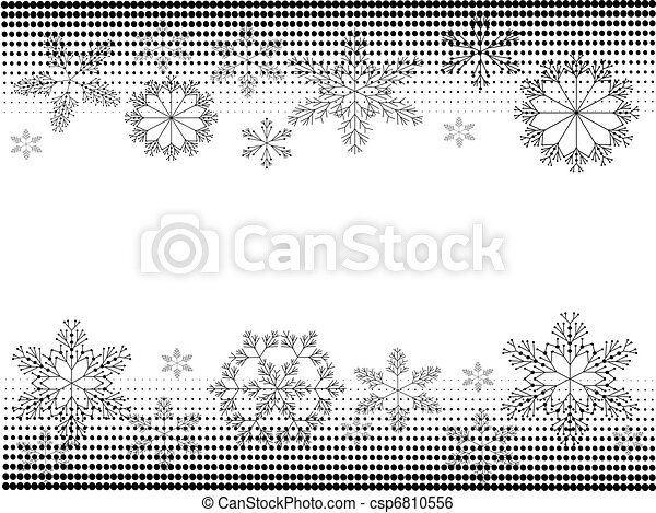 Atrás con copos de nieve - csp6810556