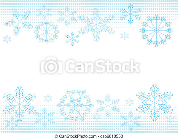 Atrás con copos de nieve - csp6810558
