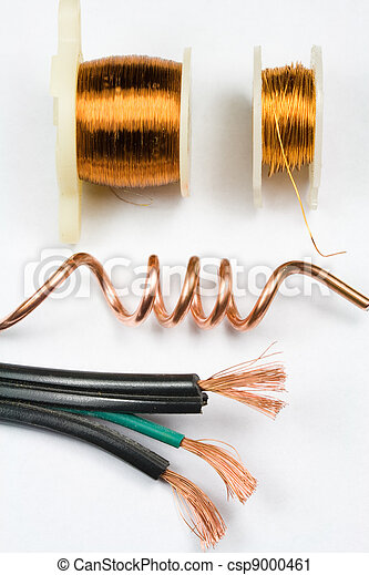Copper electrical wire assortment stock photography - Search ...