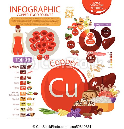 Infographics Copper Food Sources Foods With The Maximum Copper