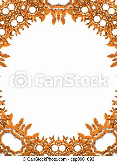 Copper floral frame - csp0001093