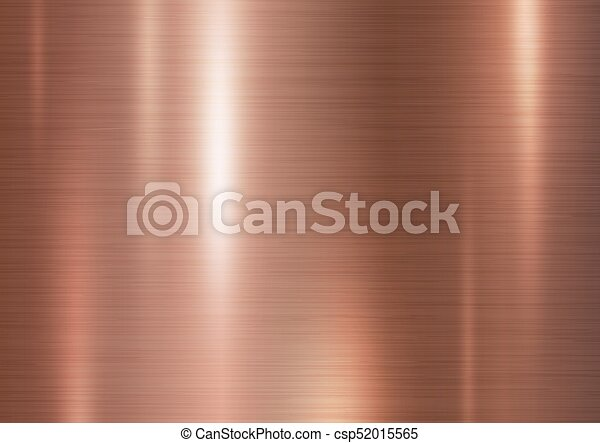 Copper metal texture background vector illustration - csp52015565