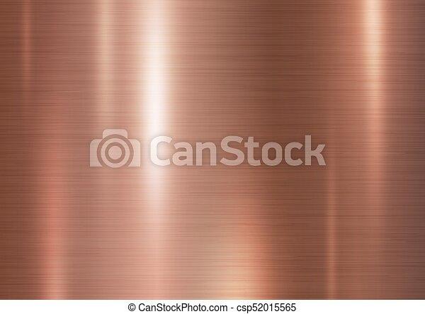 Copper metal texture background vector illustration - csp52015565