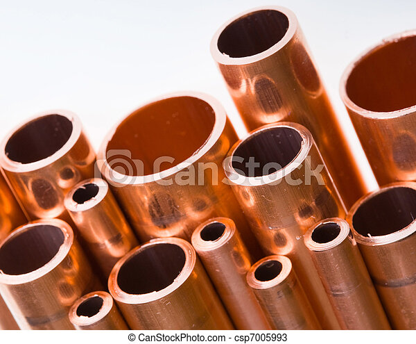 Copper pipes of different diameter - csp7005993