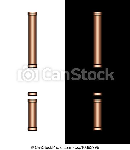 Copper Tubing Fittings 3D Letter I - csp10393999