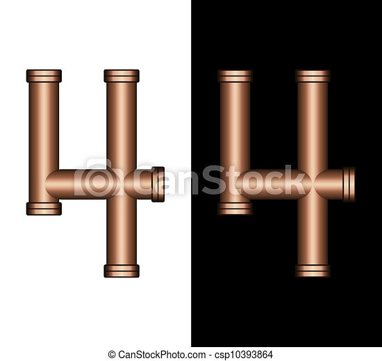 Copper Tubing Fittings 3D Number 4 - csp10393864