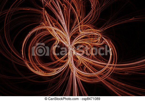 Copper wire abstract background.
