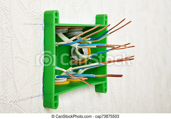 Copper wires in an electrical distribution box. on junction box accessories, junction box lighting, junction box connectors, junction box concrete, junction box battery, junction box conduit, junction box electrical, junction box cable, junction box terminals, junction box power, junction box installation, junction solutions, junction box transformer, junction box dimensions, junction box connections,