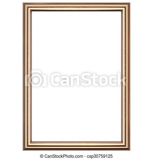 Copper wooden frame - csp30759125