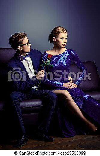 coppia, amanti - csp25505099