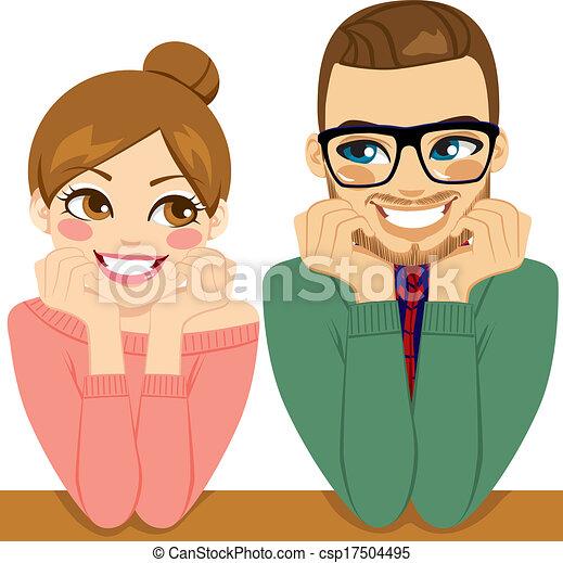 coppia, bello, romantico - csp17504495