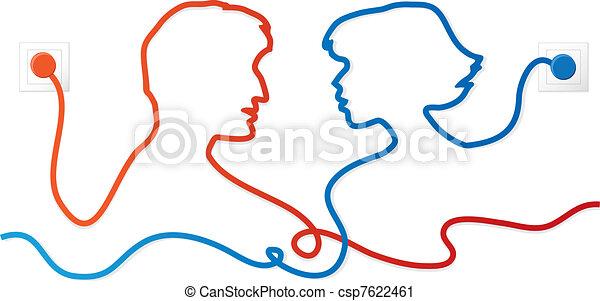 coppia, comunicare - csp7622461