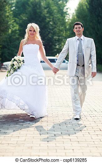 coppia, giovane, matrimonio - csp6139285
