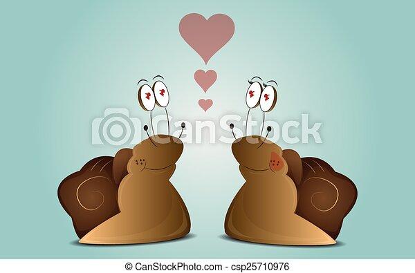 Coppia lumache cartone animato blu amore coppia fondo