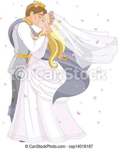 coppia, matrimonio, reale - csp14016187