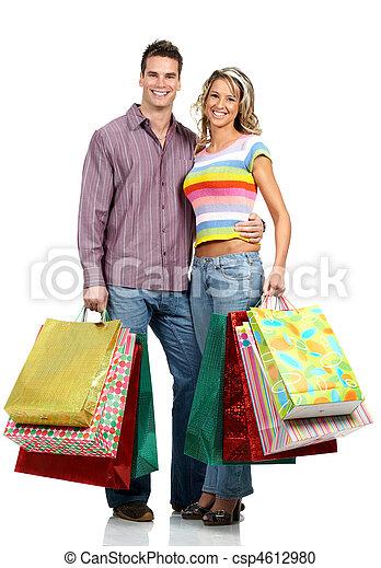 coppia, shopping, amore - csp4612980